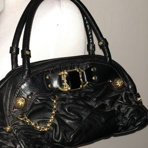 Juicy Couture Black Quilted leather Hobo Handbag